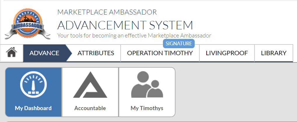 Welcome to Marketplace Ambassador Advancement System